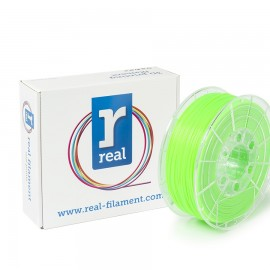 REAL PLA 3D Printer Filament - Fluorescent Green - spool of 0.5Kg - 1.75mm