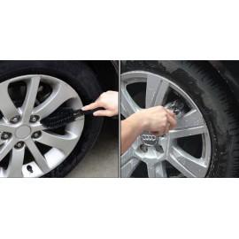 AMIO Βούρτσα καθαρισμού ζαντών αυτοκινήτου 01740, 26cm, μαύρη