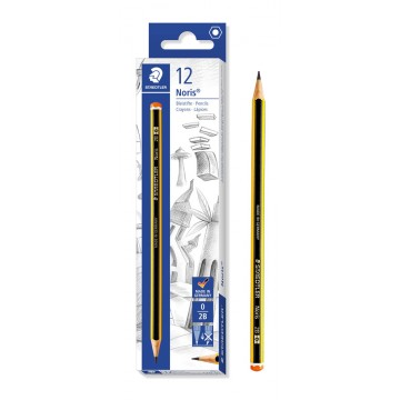 STAEDTLER ξύλινο μολύβι Noris 120-0, εξάγωνο, 2B0, 12τμχ