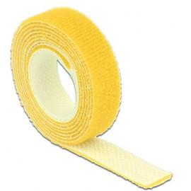DELOCK ταινία τ. velcro πολλαπλών χρήσεων, 1m x 13mm, Yellow
