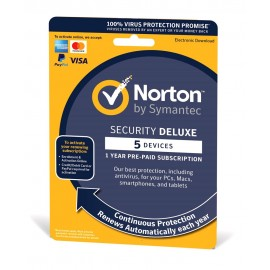 NORTON Security Deluxe 3.0, 5 συσκευές, 1 έτος, EU