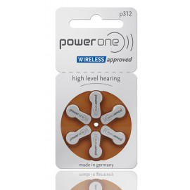 POWER ONE μπαταρίες ακουστικών βαρηκοΐας P312, mercury free, 1.45V, 6τμχ