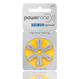 POWER ONE μπαταρίες ακουστικών βαρηκοΐας P10, mercury free, 1.45V, 6τμχ