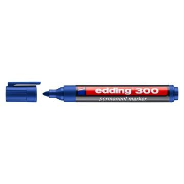EDDING ανεξίτηλος μαρκαδόρος 300, 1.5-3mm, επαναγεμιζόμενος, μπλε
