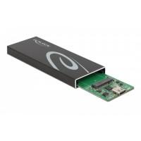 DELOCK θήκη για Μ.2 key B SSD 42003, Type-C, USB3.2 10Gbps, μαύρη