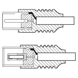 GOOBAY καλώδιο κεραίας αρσενικό σε θηλυκό 50910, <70dB, CCS, 0.5m, λευκό