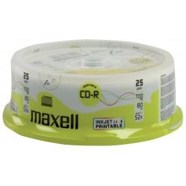 MAXELL CD-R 80min 700mb 52x 25Cake pack Printable FF