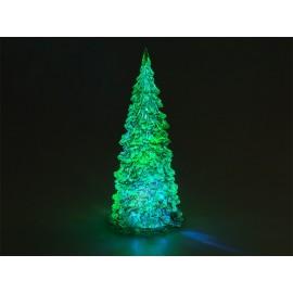 Διακοσμητικό LED Χριστουγεννιάτικο δέντρο, εναλλαγή χρωμάτων, 17cm