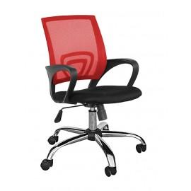 TNS Καρέκλα γραφείου AB-9050RED, εργονομική, ρυθμιζόμενη, κόκκινη