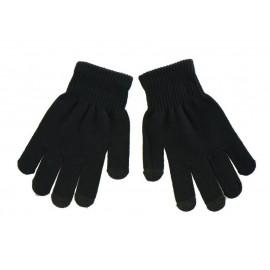 Πλεκτά γάντια ανδρικά, κατάλληλα για οθόνες αφής, μαύρα