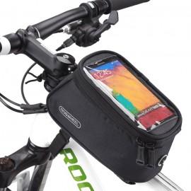 ROSWHEEL Τσάντα ποδηλάτου με θήκη τηλεφώνου, αδιάβροχη, μαύρη