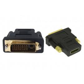 POWERTECH adapter HDMI 19pin θηλυκό σε DVI 24+1 αρσενικό
