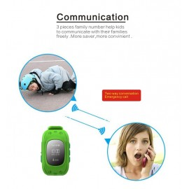 GPS Tracker Παιδικό ρολόι χειρός Q50, SOS-Βηματομετρητής, Pink