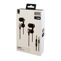 ALTEC LANSING earphones Inspire, mic, Button, 110dB, μαύρα