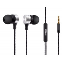 ALTEC LANSING earphones Inspire, mic, Button, 110dB, ασημί