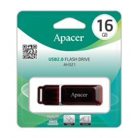 APACER USB Flash Drive AH321, USB 2.0, 16GB, Red
