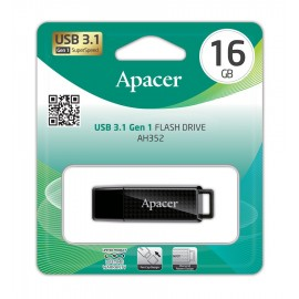 APACER USB Flash Drive AH352, USB 3.1, 16GB, Black