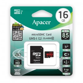 APACER Κάρτα Μνήμης Micro SDHC UHS-I U1 R85, 16GB, Class10