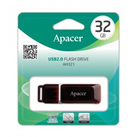 APACER USB Flash Drive AH321, USB 2.0, 32GB, Red