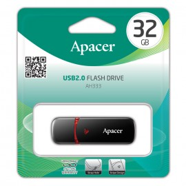 APACER USB Flash Drive AH333, USB 2.0, 32GB, Black