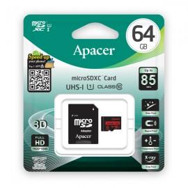 APACER Κάρτα Μνήμης Micro SDHC UHS-I U1 R85, 64GB, Class10