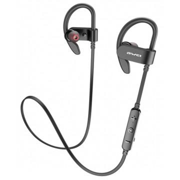 AWEI earphones με μικρόφωνο WT50, Bluetooth, 2x 60mAh, μαύρα