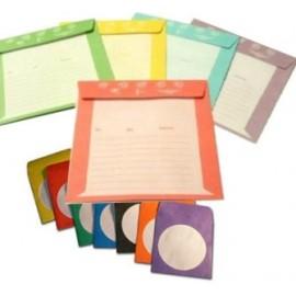 Χάρτινο φακελάκι για οπτικά μέσα, έγχρωμο (τυχαίο χρώμα), 50τμχ