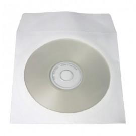 Λευκό χαρτινο φακελάκι για φύλαξη, μεταφορά και αποθήκευση, cd και dvd. Διαθέτει παράθυρο για ανάγνωση των περιεχομένων.