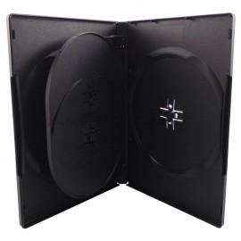 Θήκη CD/DVD για 4 δίσκους, 14mm, μαύρη, 50τμχ