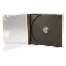 CD/DVD Jewel case, 10.4mm, μαύρο, 100τμχ