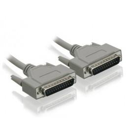 POWERTECH Καλώδιο σειριακό RS232 25-Pin (M)/(M), 3M, λευκό