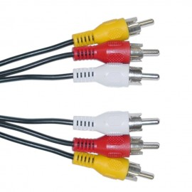 POWERTECH Καλώδιο 3x RCA Male σε 3x RCA Male (red, white, yellow), 5m