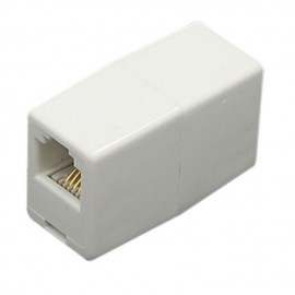 POWERTECH τηλεφώνικο εξάρτημα (μούφα), 6p4c, RJ11, White