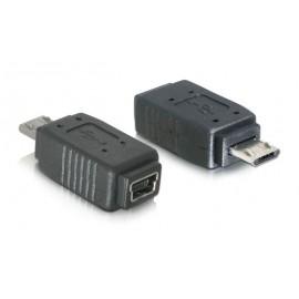 POWERTECH Αντάπτορας Micro-B (M) σε Mini USB (F), μαύρο