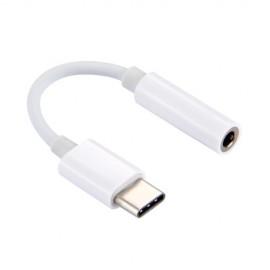POWERTECH Καλώδιο USB Type-C (M) σε 3.5mm Jack (F), CM119B, λευκό