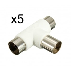 POWERTECH Adapter για κεραία male σε 2x female, 5τμχ
