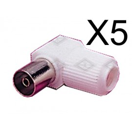 Powertech adapter PAL 9.5mm για TV 90o - F - 5TEM
