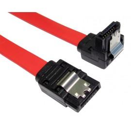 POWERTECH Καλώδιο SATA 7-pin σε 7-pin 90ο, Metal Clip, 0.5m