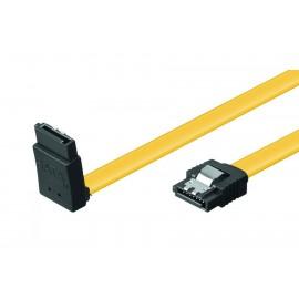 POWERTECH Καλώδιο SATA III 7pin σε 7pin 90° CAB-W028, Metal Clip 0.5m