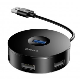 BASEUS USB hub CAHUB-F01, 1x USB 3.0, 3x USV 2.0, μαύρο