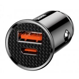 BASEUS φορτιστής αυτοκινήτου CCALL-YS01, 2x USB, 5A 30W, μαύρο