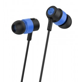 CELEBRAT Earphones CLB-V1-BL με μικρόφωνο, 10mm, 3.5mm, 1.2m, μπλε