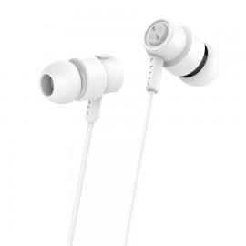 CELEBRAT Earphones CLB-V1-WH με μικρόφωνο, 10mm, 3.5mm, 1.2m, λευκό