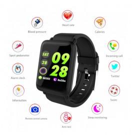 COLMI Smartwatch CLM-M28 έγχρωμη οθόνη, Heart rate/Blood presure, μαύρο