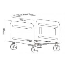 BRATECK Μεταλλική βάση PC CPB-4 με ροδάκια, Universal, έως 10kg