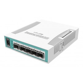 MIKROTIK Cloud Router Switch CRS106-1C-5S, 128MB RAM, 1x Combo, 5x SFP