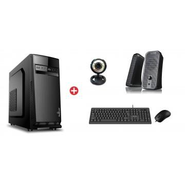 POWERTECH PC DMPC-0028 SSD, DVD-RW, κάμερα, ηχεία, ποντίκι, πληκτρολόγιο