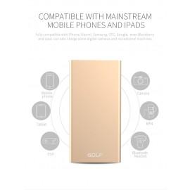 GOLF Power Bank Edge 5 5000mAh, Ultra-thin, 1x USB, Micro - 8pin, Black
