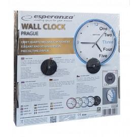 ESPERANZA ρολόι τοίχου Prague EHC014B, 20cm, μπλε