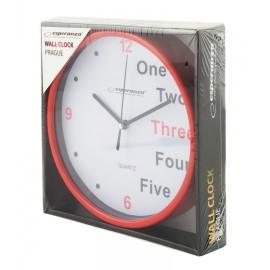 ESPERANZA Ρολόι τοίχου Prague EHC014R, 20cm, κόκκινο